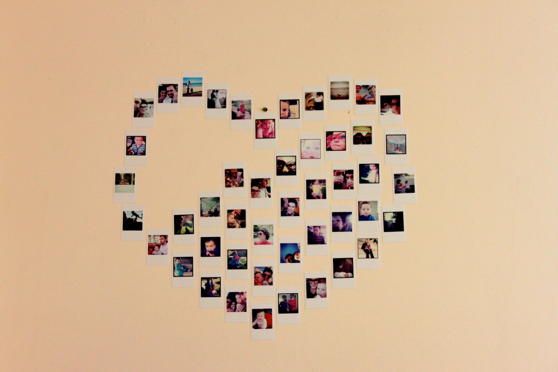 Diy Heart Photo Collage Eachpeachpear